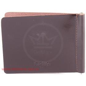 Зажим для купюр н/к-Z.7-.1.brown,    тисн Евро,    откидная фурнитура