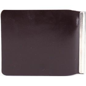 Зажим для купюр Premier-Z-1    (зажим-скрепка)    натуральная кожа коричневый темный гладкий   (88)