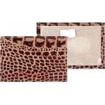 Обложка пропуск/карточка/проездной Premier-V-41 натуральная кожа коричневый темный кайман   (300)