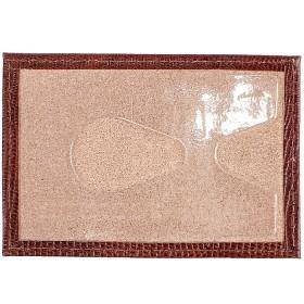 Обложка пропуск/карточка/проездной Premier-V-41 натуральная кожа коричн.темный игуана   (84)