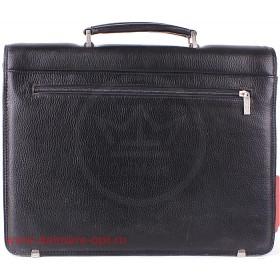 Портфель искусственная кожа Cantlor-W 8014-01,    3отд,   1внеш+6внут карм,    плечевой ремень,    черный