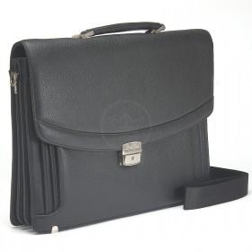 Портфель искусственная кожа Cantlor-W 005C-01,    5отд,    1внеш+5внут карм,    плечевой ремень,    черный
