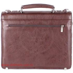 Портфель искусственная кожа Cantlor-W 285-02,    3отд,    1внеш+4внут карм,    плечевой ремень,   коричневый
