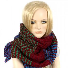 Шарф 35*190см,    акрил 100% 4 цвета,    цвет-02,    бордо-син-зел SALE