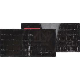 Портмоне мужское Premier-М-55 натуральная кожа 1 отд,    2 карм,    черный крокодил   (101)