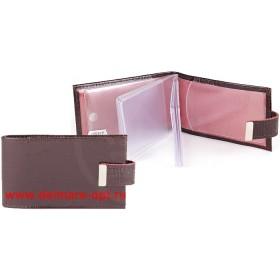 Визитница горизонтальная    (вкл 18 л)    с хлястиком,    н/к,    крок;    корич;    тисн Cards