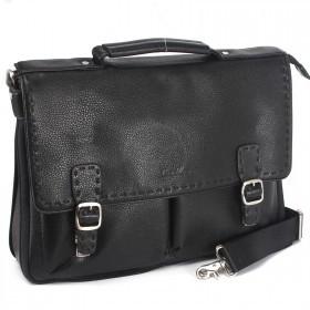 Портфель искусственная кожа Cantlor-W 352-01,    4отд,    1внеш+6внут карм,    плечевой ремень,    черный