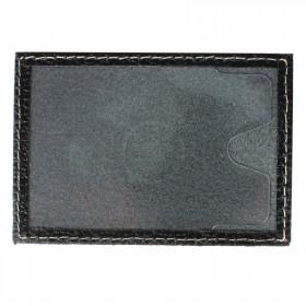 Обложка пропуск/карточка/проездной Cayman-16 натуральная кожа черный флотер   (40)