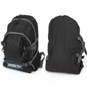 Рюкзак молодежный Silver Top-1131 Монблан,    прост спинка,    2отд,    1внеш карм,    черный/серый