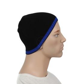 Шапка мужская DMD-КО-007    (одинарная);    шерсть 60%,    полиэстер 40%,    черный+синий