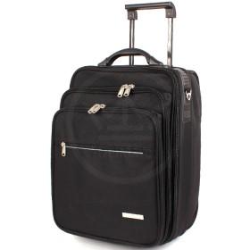 Кейс-чемодан на колесах Орбита-1902 дорожный,    3отд,    1внеш карм,   1внут карм,    плечевой ремень    (каркас) ,    черный