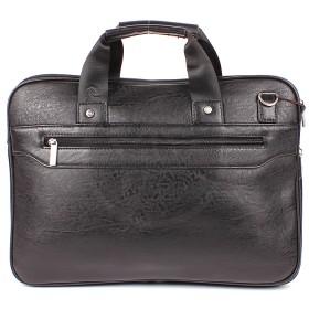 Папка деловая искусственная кожа Cantlor-705А-01,    1отд+отд д/ноут,    3внеш+3внут карм,    плечевой ремень,    черный