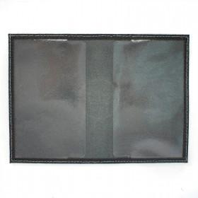 Обложка для паспорта FNX-УП-001 натуральная кожа черный флотер   (221)