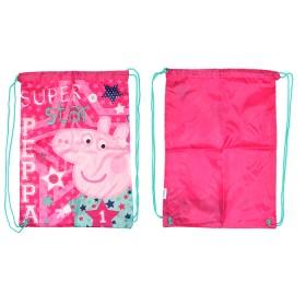 """Мешок для сменной обуви Росмэн 30285""""  Свинка Пеппа""""   SuperStar,    полиэстер,    45*35см,    розов"""