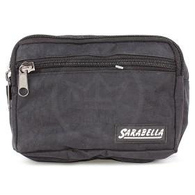 Сумка мужская поясная Sarabella-СП 152Ж    (жатка) ,    2отд+1внеш карм,    черный