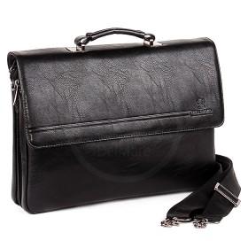 Сумка мужская искусственная кожа BF-98336-6В,    5отд,    2внеш+3внут карм,    плечевой ремень,    черный