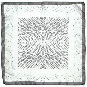 Платок шейный 60*60см полиэстер 100%,    плетение  шифон,    рис 311_59,    серый