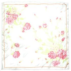 Платок шейный 60*60см полиэстер 100%,    плетение  шифон,    рис 311_62,    молочный