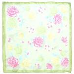 Платок шейный 60*60см полиэстер 100%,    плетение  шифон,    рис 311_64,    зеленый