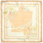 Платок шейный 60*60см полиэстер 100%,    плетение  шифон,    рис 311_65,    оранжевый
