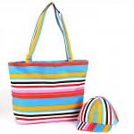 Комплект 117   (сумка пляжная+бейсболка)    текстиль 2905-HJ-144,    1отд,    полоска голубой