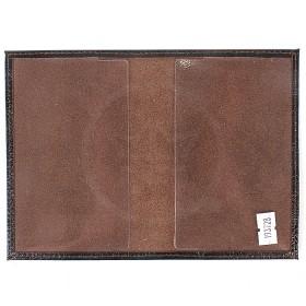 Обложка для паспорта Premier-О-82    (с гербом)    натуральная кожа коричневый темный ладья   (328)
