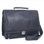 Портфель искусственная кожа Cantlor-W 4896-01,    6отд,   2внеш+6внут карм,    плечевой ремень,    черный