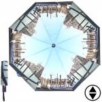 Зонт женский RST-3733,    R=56см,    суперавт;    8спиц-сталь+fiber,    3слож,    полиэстер,    серый