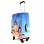 "Чехол для чемодана 28-L""     (28""  -113л) ,    полиэстер 100%,       (Собор)    голубой"