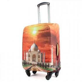"""Чехол для чемодана 28-L""""     (28""""  -113л) ,    полиэстер 100%,       (Мечеть)    оранжевый"""