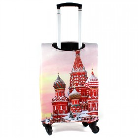 """Чехол для чемодана 24-M""""     (24""""  -70л) ,    полиэстер 100%,       (Москва)    розовый"""