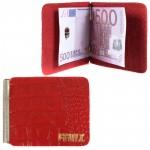 Зажим для купюр FNX-LZ-01 н/к,    алый кайман   (63)
