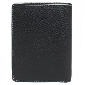 Портмоне мужское натуральная кожа «Blackwood»-PM.76.CD.,    1отд,    4карм,    черный