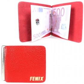 Зажим для купюр FNX-LZ-01 н/к,    красный флотер   (113)