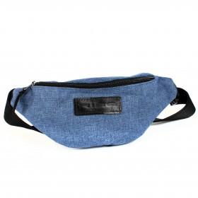 Сумка мужская Rise-к-007    (текстиль)    поясная,    1отд,    1внеш карм,    синий