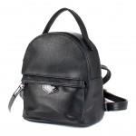 Сумка женская искусственная кожа GR-1612    (рюкзак-мини) ,    1отд,    2внут+1внеш карм,    черный