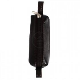 Футляр для ключей-FNX-КЛМ-101   (малая)    натуральная кожа коричневый тем игуана   (274)