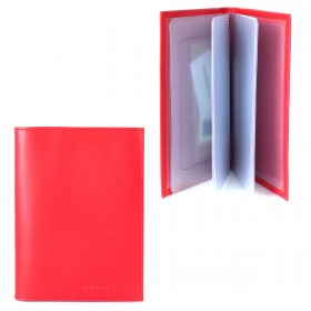Обложка для автодокументов натуральная кожа BV.1.FV.красный