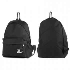 Рюкзак молодежный TL-РМ-03    (П-600) ,    уплотн.спинка,    1отд,    1внеш карм,    черный    (Sport белый)