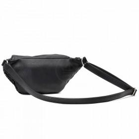 Сумка женская иск/кожа+текстиль ADEL-146   (поясная) ,    1отд,    ремень/пояс,    черный sequins