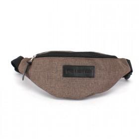 Сумка мужская Rise-к-007    (текстиль)    поясная,    1отд,    1внеш карм,    коричневый