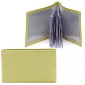 Визитница PRT-ФВ-1   (18 листов)    натуральная кожа лимон орфей