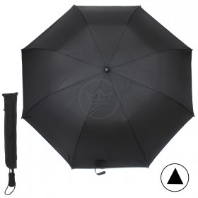 Зонт муж PST-2501B,    R=68см,    полуавт;    8 спиц-сталь+fiber,    2слож,    полиэстер,    черный