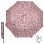 Зонт женский RST-308,    R=53см,    механика;    8спиц-сталь;    3слож;    полиэстер,    фуксия/желтый