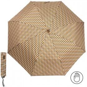 Зонт женский RST-308,    R=53см,    механика;    8спиц-сталь;    3слож;    полиэстер,    горчица/белый