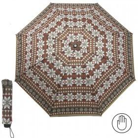 Зонт женский RST-3010,    R=55см,    механика;    8спиц-сталь;    3слож;    полиэстер,    кор/зел/белый