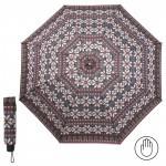Зонт женский RST-3010,    R=55см,    механика;    8спиц-сталь;    3слож;    полиэстер,    сер/крас/белый