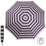 Зонт женский RST-923,    R=53см,    механика;    8 спиц-сталь;    3слож;    полиэстер,    молочный/фиолетовый    (полоска)