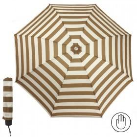 Зонт женский RST-923,    R=53см,    механика;    8 спиц-сталь;    3слож;    полиэстер,    молочный/коричневый    (полоска)