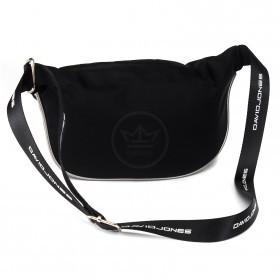 Сумка женская текстиль DJ-5962-1-BLACK,   поясная 1отд,    2внут+1внеш/карм,    черный